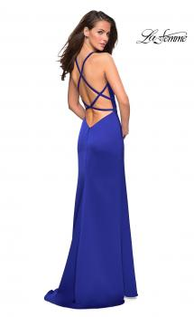 Picture of: High Neckline Prom Dress with Strappy Back in Electric Blue, Style: 26946, Main Picture