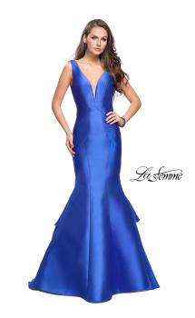 Picture of: Low Scoop Mermaid Prom Dress with Tiered Detail, Style: 26046, Main Picture