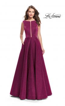 Picture of: High Neck Sparkling A-line Dress with Strappy Open Back, Style: 25895, Main Picture