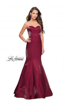 Picture of: Strapless Long Mermaid Prom Dress in Two Tone Satin, Style: 25383, Main Picture