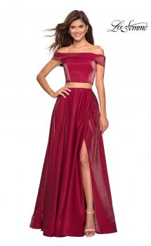 Picture of: Two Piece Two- Tone Satin A Line Prom Dress, Style: 26919, Main Picture