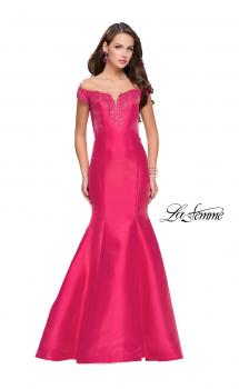 Picture of: Off The Shoulder Mikado Mermaid Gown with Lace, Style: 26001, Main Picture
