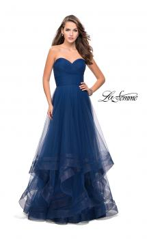 Picture of: Tulle Ball Gown with Sweetheart Neckline in Midnight Blue, Style: 25446, Main Picture