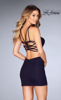 Picture of: Tight Jersey Dress with Separating Straps in Back, Style: 25058, Main Picture
