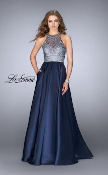 Picture of: Sheer Beaded Halter Top Dress with A-line Skirt, Style: 24789, Main Picture