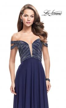 Picture of: A-Line Prom Gown with Beaded Bodice and Chiffon Skirt, Style: 26059, Main Picture