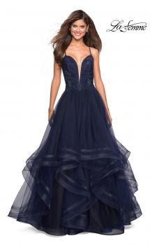 Picture of: Sweetheart Neckline Tulle Formal Gown in Navy, Style: 27192, Main Picture