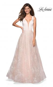 Picture of: Elegant Ball Gown With Floral Printed Skirt and Pockets, Style: 27325, Main Picture