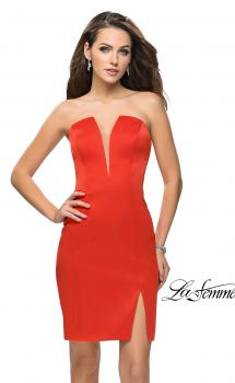 Picture of: Simple Satin Sweetheart Homecoming Dress, Style: 26629, Main Picture