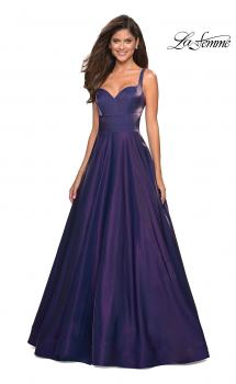 Picture of: Sweetheart Neckline Satin Long Prom Gown in Purple, Style: 27227, Main Picture