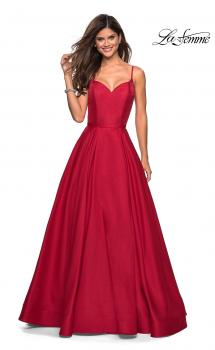 Picture of: Elegant Long Ball Gown with Empire Waist and V Back in Red, Style: 27447, Main Picture