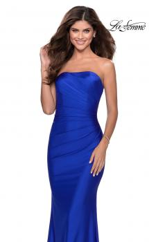 Picture of: Floor Length Strapless Prom Dress with Pleating in Royal Blue, Style: 28269, Main Picture