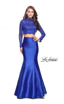 Picture of: Two Piece Mermaid Prom Dress with Lace Top in Royal Blue, Style: 24901, Main Picture