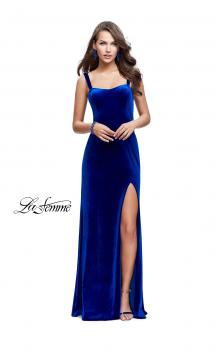 Picture of: Long Velvet Dress with Sweetheart Neckline in Royal Blue, Style: 25375, Main Picture