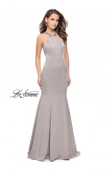 Picture of: Halter Mermaid Prom Dress with Metallic Beading, Style: 25763, Main Picture
