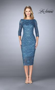 Picture of: Mid-Length Dress with Sleeves and Closed Back, Style: 24875, Main Picture