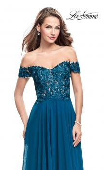 Picture of: Beaded Lace Off the Shoulder Prom Dress, Style: 26070, Main Picture