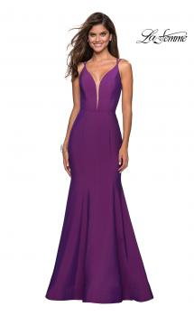 Picture of: Long Jersey Prom Gown with Open Strappy Back, Style: 27446, Main Picture