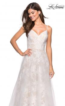 Picture of: Empire Waist Lace Ball Gown with Sweetheart Neckline in White Nude, Style: 27263, Main Picture