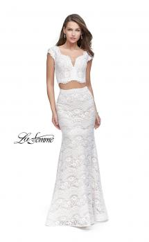 Picture of: Two Piece Mermaid Dress with Metallic Beading, Style: 25918, Main Picture