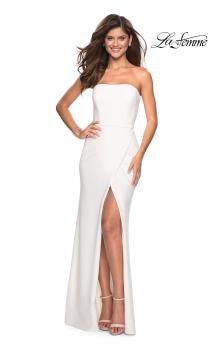 Picture of: Simple Strapless Prom Dress with Double Strap Back, Style: 27035, Main Picture