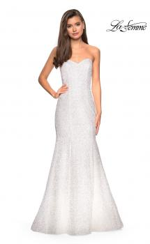 Picture of: sequin Strapless Mermaid Prom Dress in White, Style: 27791, Main Picture