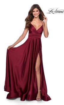 Picture of: Elegant Satin Prom Gown with Empire Waist in Red, Style: 28571, Main Picture